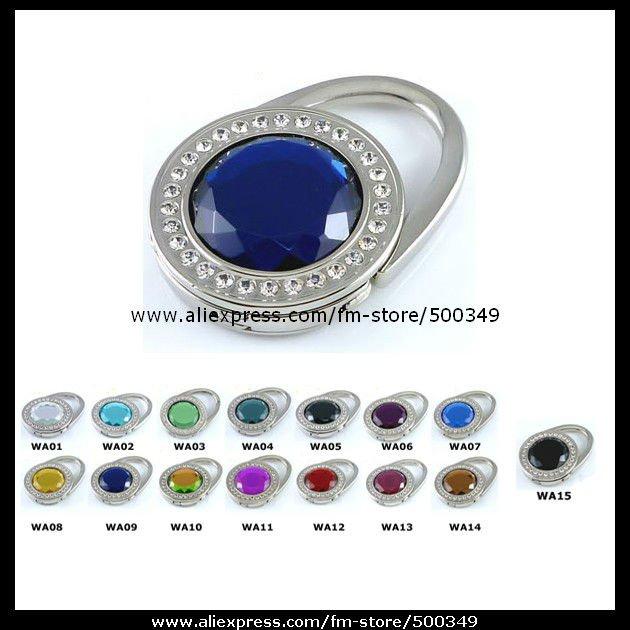 Royal Blue Purse Shape - Purse Hanger Glass Crystal Gemstone Bag Hook Foldable Hanger(China (Mainland))