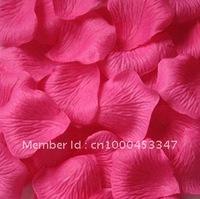 Hot pink Silk Rose Petals Wedding Favor Decoration Flower Petal 10 Bags (100 pcs per bag,Mix color)