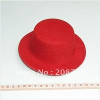 {Christmas gift} NEW RED mini party top hat clips plain DIY fascinator