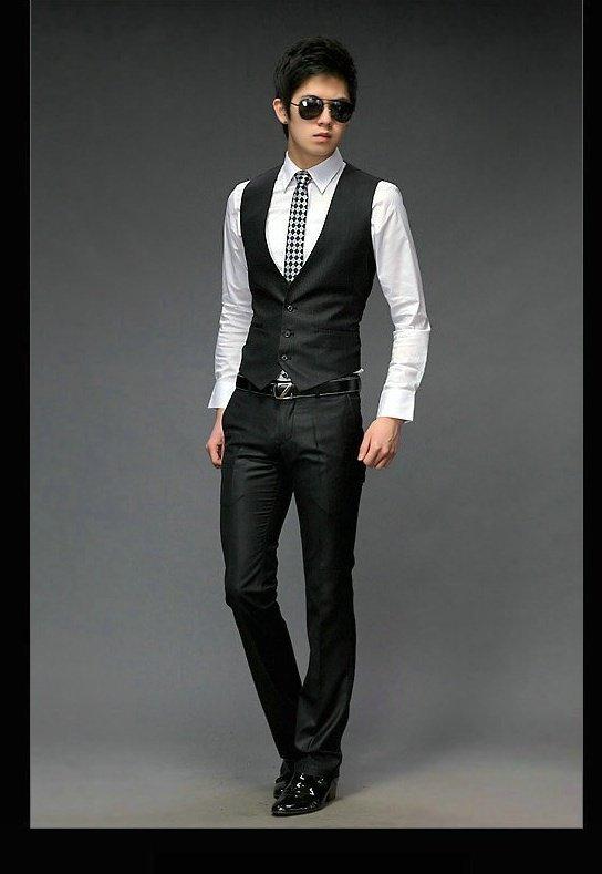 Wholesale cheap white shirts black vests pantsvestwedding vest