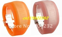 New Fashion Led watch digital watch silicone watch ODM watch in 9 colors 10pcs/lot+Free shipping