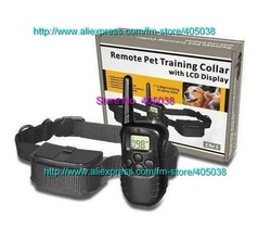 300 meters Remote Pet Training Collar no bark collar with LCD display for 1 dog(China (Mainland))