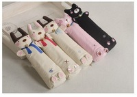 Wholesale 60pcs/lot Kid Cute Cat Kitty Canvas Stationery Pen Pencil bags pouch Pencil case Gift Fast Free shipping