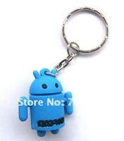 Wholesale -  brand new 500pcs Android Cute key chain handbag Charms Straps