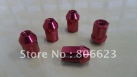24 (SET) ALUMINUM 12x1.25 WHEEL RIM LUG NUTS RED