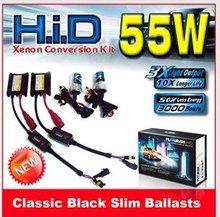 12v 55w H1 H3 H4 H6 H7 H8 H9 H10 H11 H13 HID xenón kit súper delgada lastre delgado de la luz del coche(China (Mainland))