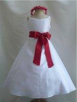 NEW QT2 WHITE BLACK FLOWER GIRL DRESS