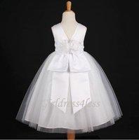 WHITE COMMUNION FLOWER GIRL DRESS