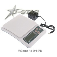 Free Shipping New APTK461 LCD Digital Electronic Compact Kitchen Scale Color White