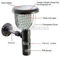 2014 Endoscope Cctv Camera Wholesale Price free Shipping Chritma Promotion Fir Motion Detection Led Light Solar Dvr Hide Camera