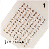 Wholesale Gold metalic design nail art sticker / decal DHL Free shipping