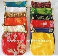 WHOLESALE beautiful  China Silk Jewelry wedding Pouches bags gift bag 10x15CM 100Pcs/lot mix order free shipping