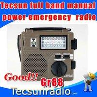 Free Shipping Tecsun GR88  Full band Hand-cranked Power Generation Environmental Emergency Green-88 Radio
