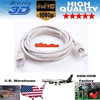 Whole Sale 1000pcs/lot 6FT RJ45 CAT5E ETHERNET LAN NETWORK CABLE - 6 FT Grey OD5.5mm