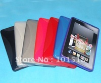 """50pcs/lot Free shipping TPU Gel Case Protector for Amazon Kindle Fire 7"""" Tablet New"""