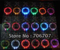 hot sellingfree shipping LED Optical Fiber Flashing Shoelaces, 100pcs(50pairs)/lot  Optical Fiber Glowing light LED Shoelaces