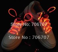 Wholesale -500pcs/lot 250pairs LED flashing shoelace led Shoelace LED shoe laces luminous Shoelace