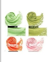 HOT sale Fashionable Cashmere scarf Wrap Shawl Ponchos scarves with 40 color -#028