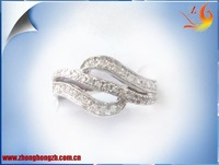 Free shipping ring!! Wholesale+free logo! High quality fine 925 silver lady's  ring with cz