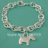 1pcs Dog tag Bracelet 925 Silver Bracelet Jewelry Christmas Gift Valentine's Day gift