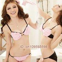 Комплект нижнего белья Hot sexy bra women's bra suit, ladies brassiere set, Popular ladies' bra and brief Nude B cup brassiere