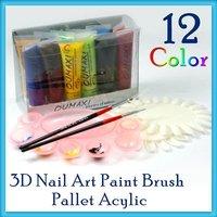 12x COLOR AIRBRUSH PAINT Nail Art Air Brush Design #83
