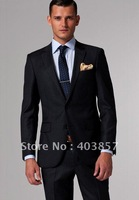 Men Suit Black Pinstripe Suits Custom Made Suits Brand Name Suit Men Clothes Perfect For The Office Cut Slim MS0250
