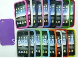 For iPhone 4 Silicone Case Back Case