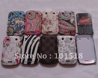 50pcs/lot&free shipping New Flower Hard Back Skin Case Cover For BlackBerry Bold Touch 9930 9900