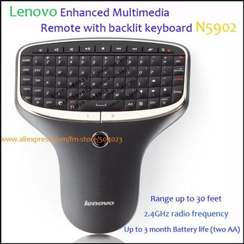 Lenovo N5902 Mini PC TV 2 in 1 2.4G Multimedia Remote with Keyboard and Mouse With Retail Packaging