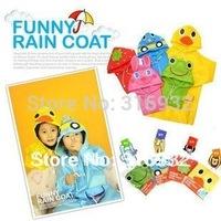 Wholesale cartoon animal shapedchildren's poncho,children raincoat ,1pc