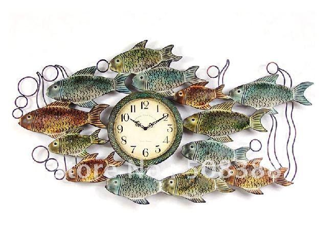 Europ enne annuelle et surabondante fer forg mute horloge for Horloge murale fer forge