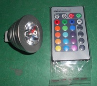 1*3W MR16 RGB led spot light with remote controller