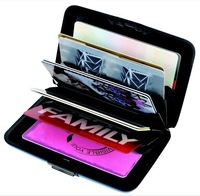 AS SEEN ON TV free shipping Metallic Aluminum Wallet hot sale Wallet Credit Card Holder 250pcs/lot