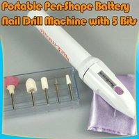 BATTERY NAIL DRILL Acrylic Gel Nail Polish File Tool 49#