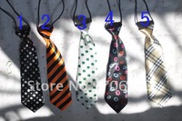 Children Nick Tie Kid Necktie Fashion printed party Baby Rubber Bands Neckclothes Mix order 120PCS