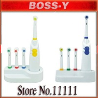 Electric toothbrush, 4 heads, 360 degree cleaning teeth dental care, Electric Massage Toothbrush Massager,Free shipping!