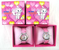 Christmas Gift 12pcs/lot Marie cat clock watch Wristwatches With + Free Shipping