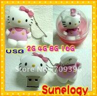 GOOD SELL! Free shipping 8GB USB 2.0 Flash Drive 2GB 4GB 8GB 16GB Cute Hello kitty drive pen drive