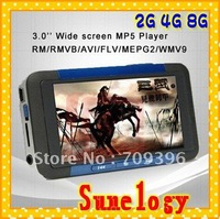 HOT!4GB Dropship! Free shipping 3.0 inch TFT screen MP4 Player MP5 Player TV OUT , TF card slot 3 colors