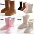 Free shipping Winter Thicken Short Plush Snow Boots Shoes For Women Black Coffee Gray Beige Brown Pink color 304