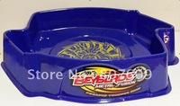 Free shipping  48pcs/lot Blue 4D Metal Fusion Beyblade Arena, metal fight beyblade Games Arena