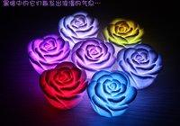 Free shipping promotion rose design wedding gift,100pcs/lot colorful led night light 110
