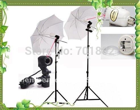 AC Slave Kit with Umbrella Small Studio Kits S8000B for Studio Flash(China (Mainland))