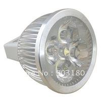20pcs 4 LEDs DC 12V 4W MR16 LED tube spotlight lamp, Energy-saving lamps,400 Lumens Low carbon,fast shipping
