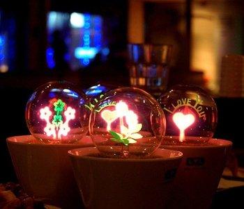 Free shipping Romantic flower Night Light Fireworks LED Lamp Night Light with Romantic Flower Pot Shape BEST christmas gifts