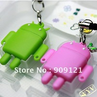 Hot Sale ! Gift Of Lobe Cute USB Card Reader Android Robot Doll Lover Mobile Phone Strap Chains