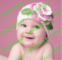 baby hats girls' Caps knitted hat flower boy's hat berets headgear embroider NEW