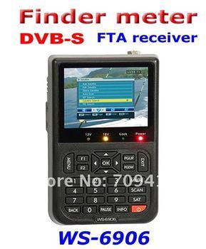 """5pcs/lot Original version ! SATlink WS-6906 3.5"""" DVB-S FTA Digital satellite receiver Signal Finder Meter, support dropshipping"""