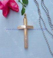 CS102 free shipping 10pcs/lot wholesale fashion high-grade titanium steel cross pendant stainless steel cross pendant necklace
